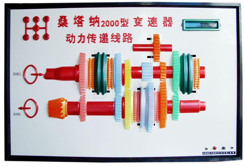 桑塔纳变速器动力传递线路电教板